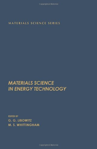 9780124475502: Material Science in Energy Technology (Materials science and technology)