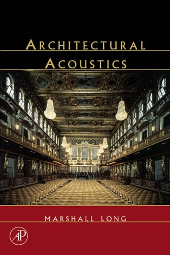 9780124555518: Architectural Acoustics (Applications of Modern Acoustics)