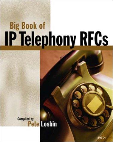 9780124558557: IP Telephony RFCs (The Big Books Series) (Vol 1)