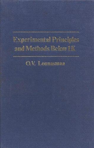 9780124559509: Experimental Principles and Methods Below 1K