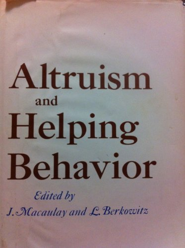 9780124630505: Altruism and Helping Behavior