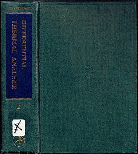 9780124644014: Differential Thermal Analysis. Volume 1 : Fundamental Aspects