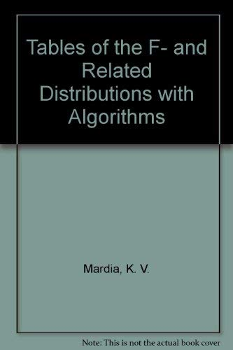 Tables of the F- and Related Distribution Algorithms: Mardia, K. V.; Zemroch, P. J.