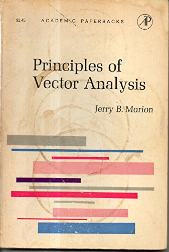 9780124722682: Principles of Vector Analysis