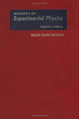 9780124759060: Solid State Physics. Part A, Volume 6A (Methods in Experimental Physics) (Pt. 1)