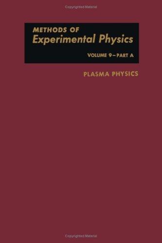 9780124759091: Plasma Physics (Methods of Experimental Physics, Vol. 9, Part A)