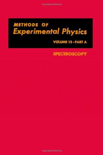9780124759138: Spectroscopy Part A. (Methods of Experimental Physics Volume 13)
