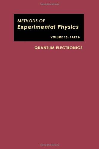 9780124759558: Quantum Electronics: Pt. B (Methods of Experimental Physics)