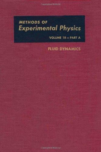 9780124759602: Fluid Dynamics, Volume 18A (Methods in Experimental Physics)