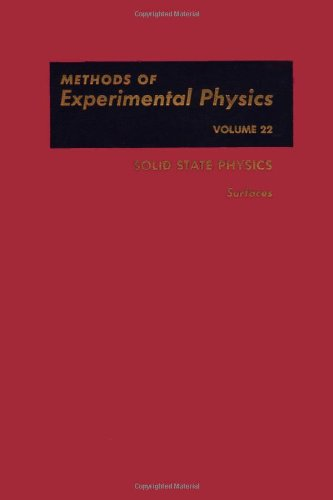 9780124759640: Solid State Physics: Surfaces. Methods of Experimental Physics Volume 22