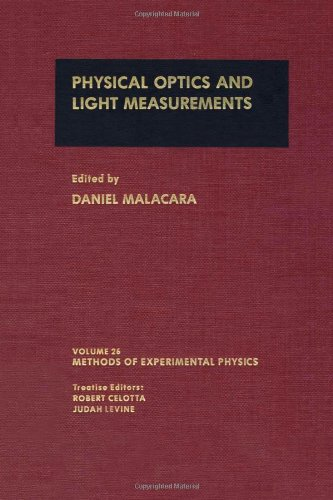 9780124759718: Physical Optics and Light Measurements, (Methods in Experimental Physics Volume 26 )