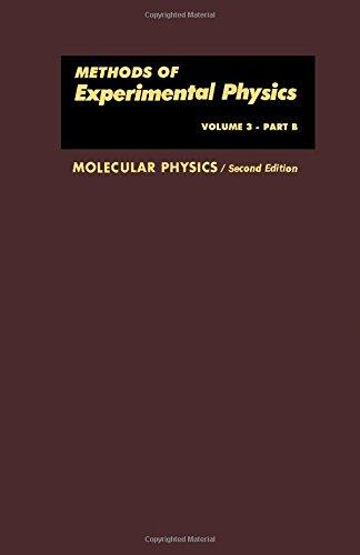 Molecular Physics, Part B (Methods of Experimental: Dudley Williams