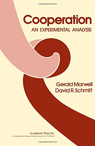 9780124763500: Cooperation: An Experimental Analysis