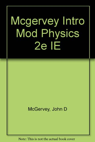9780124835627: Mcgervey Intro Mod Physics 2e IE