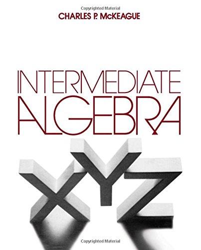 9780124847606: Intermediate Algebra