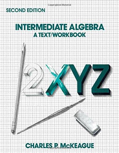 9780124847873: Intermediate Algebra