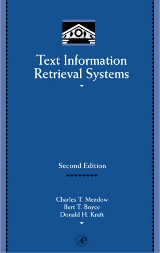 9780124874053: Text Information Retrieval Systems (Library and Information Science) (Library and Information (Hardcover))