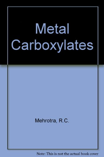 9780124881600: Metal Carboxylates