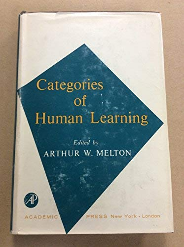 9780124905504: Categories of Human Learning