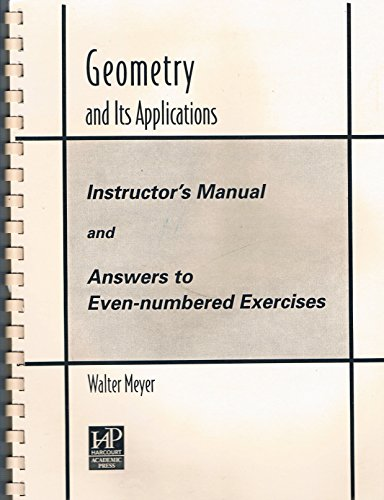 9780124932722: Geometry and Its Applications Instructors Manual