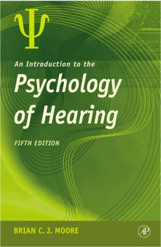 9780125056281: An Introduction to the Psychology of Hearing