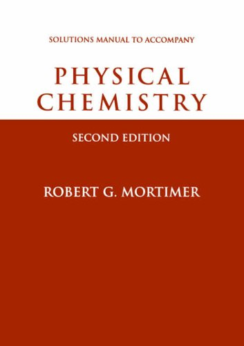 9780125083461: Physical Chemistry, Student Solutions Manual