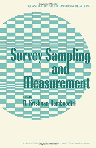 9780125133500: Survey Sampling and Measurement (Quantitative Studies in Social Relations)
