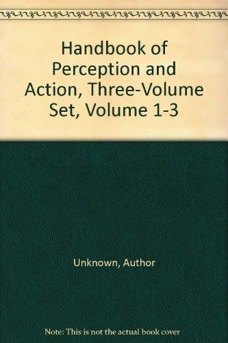 9780125161602: Handbook of Perception and Action, Three-Volume Set, Volume 1-3