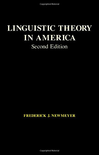 9780125171526: Linguistic Theory in America (2nd Edition)