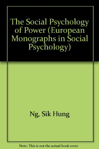 9780125181808: The Social Psychology of Power (European Monographs in Social Psychology)