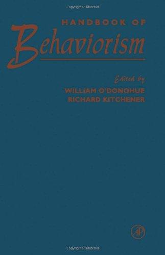 9780125241908: Handbook of Behaviorism