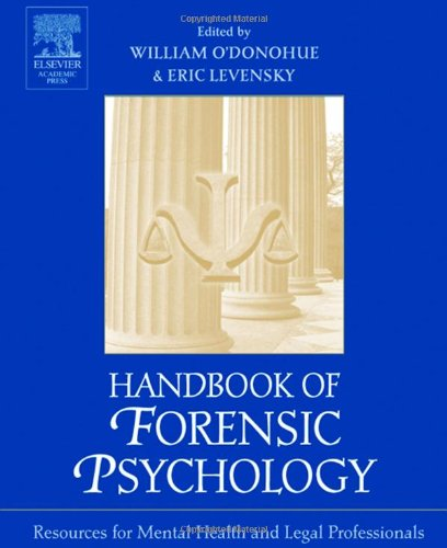 9780125241960: Handbook of Forensic Psychology: Resource for Mental Health and Legal Professionals