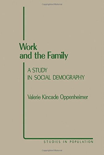 9780125275804: Work and the Family: A Study in Special Demography (Studies in Population)