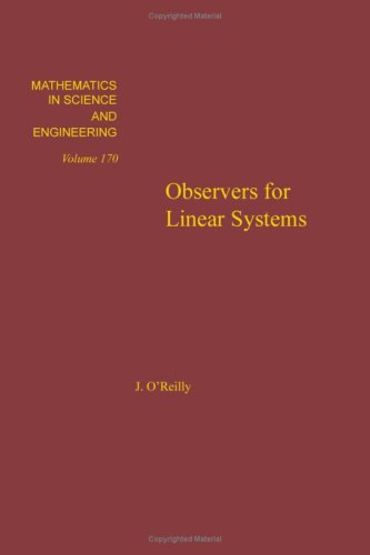 9780125277808: Observers for Linear Systems (Mathematics in Science & Engineering)