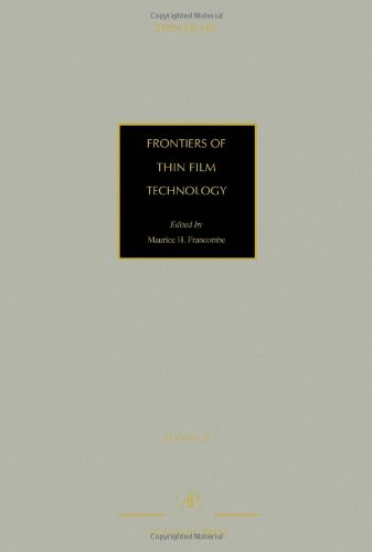 9780125330282: Frontiers of Thin Film Technology, Volume 28 (Thin Films)