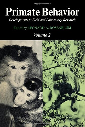 9780125340021: Primate Behaviour: v. 2: Developments in Field and Laboratory Research