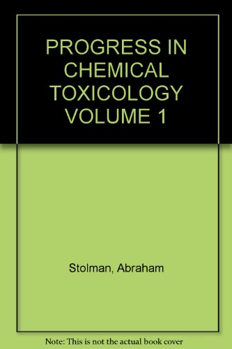 9780125365017: Progress in Chemical Toxicology: v. 1