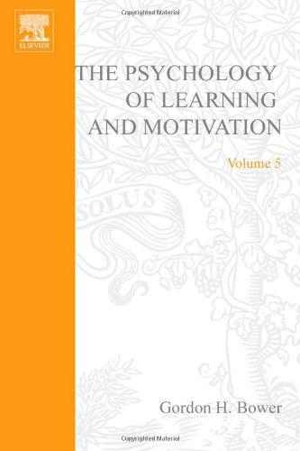 PSYCHOLOGY OF LEARNING&MOTIVATION:V.5, Volume 5: Kenneth W. (Et