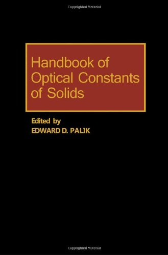 9780125444200: Handbook of Optical Constants of Solids