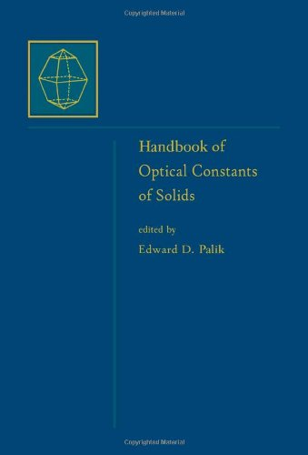 9780125444231: Handbook of Optical Constants of Solids