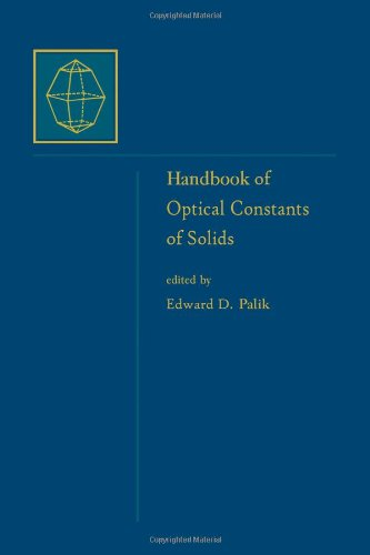 9780125444248: Handbook of Optical Constants of Solids, Five-Volume Set: Foreword to the Set: Subject Index & Contributor Index; Handbook of Optical Constants of ... Subject Indices for Volumes I, II, and III