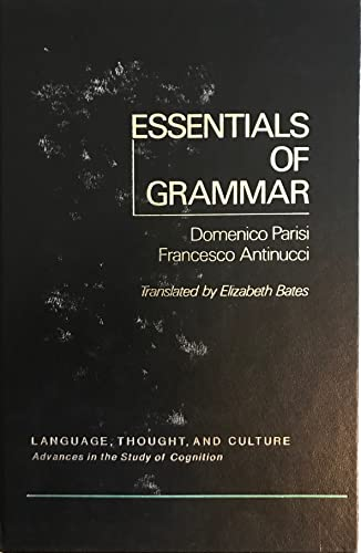 9780125446501: Essentials of Grammar (Language, thought, and culture) (English and Italian Edition)