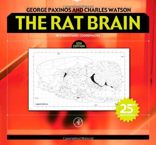 9780125476126: The Rat Brain in Stereotaxic Coordinates, Sixth Edition: Hard Cover Edition