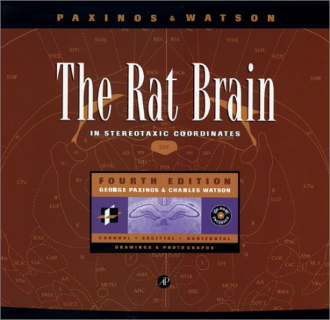 The Rat Brain in Stereotaxic Coordinates (Deluxe Edition), Fourth Edition (0125476175) by Charles Watson; George Paxinos