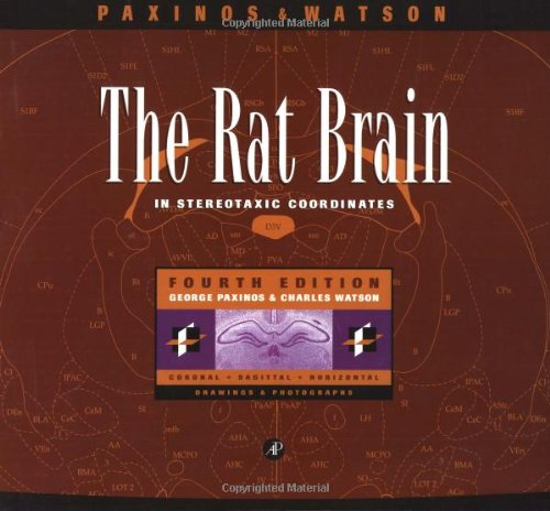 The Rat Brain in Stereotaxic Coordinates, Fourth Edition (0125476191) by Paxinos, George; Watson, Charles