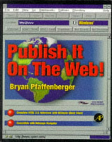 9780125531405: Publish It on the Web!: Windows Version