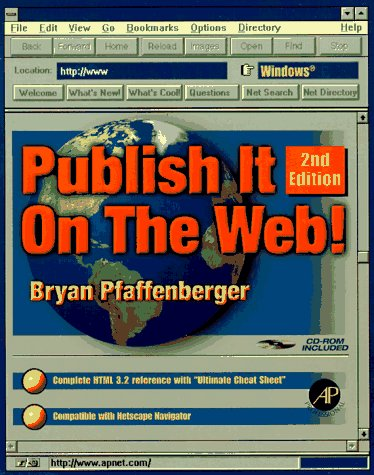 9780125531603: Publish it on the Web! Windows, Second Edition