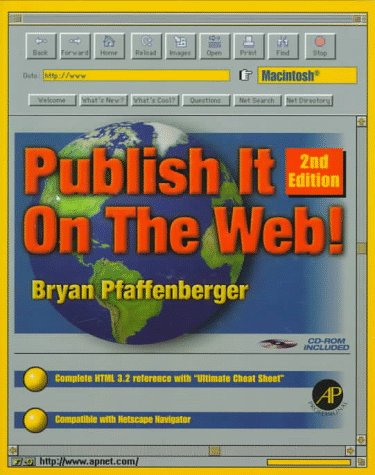 9780125531627: Publish it on the Web! Macintosh, Second Edition