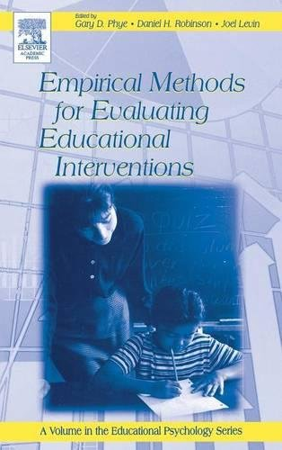 9780125542579: Empirical Methods for Evaluating Educational Interventions (Educational Psychology)