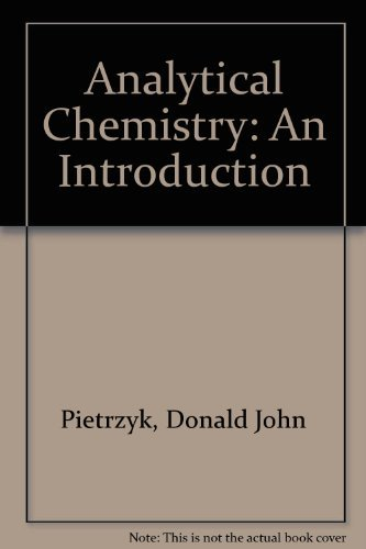 9780125551502: Analytical Chemistry: An Introduction